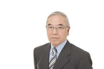 old Japanese male businessman