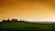 Sunset Tuscany landscape ....