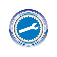 bricolage outil clef vis logo picto web icône design symbole