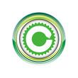 circuit  lettre C boucle logo picto web icône design symbole