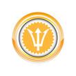 fourche trident arme logo picto web icône design symbole