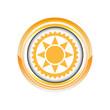 soleil été chaleur beau logo picto web icône design symbole
