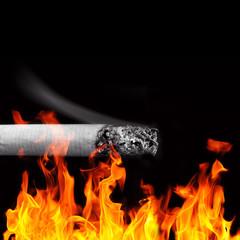 cigarette fire