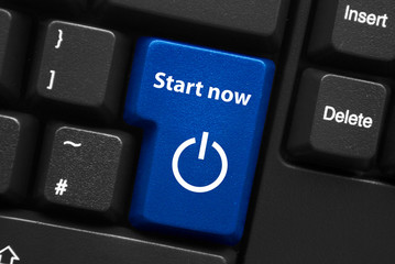"""START NOW"" Key on Keyboard (web internet power on button click)"