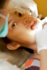 Dentist patient examine patient tooth