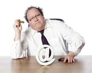 homme et business en ligne