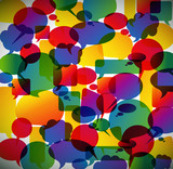 Abstract background made from speech bubbles