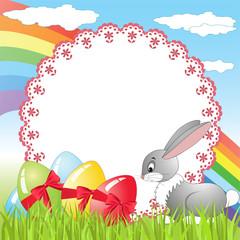 Rabbit on a meadow.