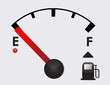 empty Gas Tank Illustration