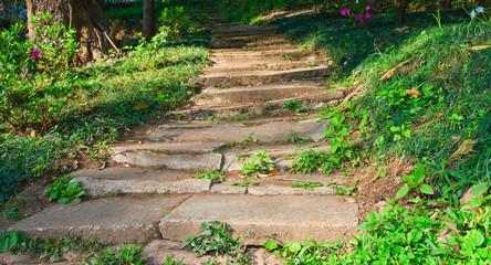 Stone stairs walkway