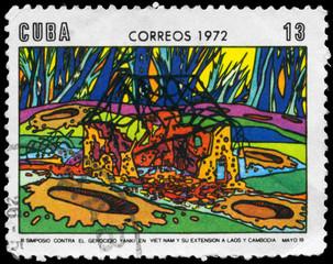 CUBA - CIRCA 1972 War in Indo-China