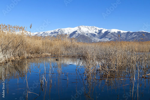 Prespes lake at north Greece