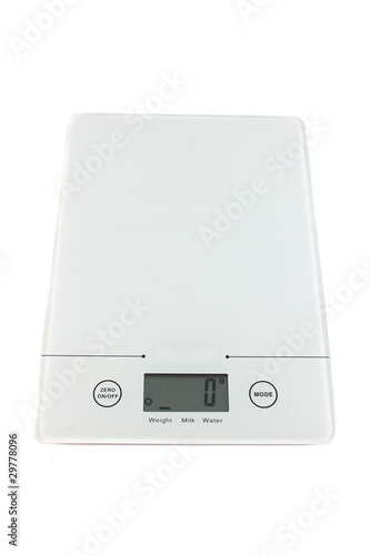 Empty kitchen scale