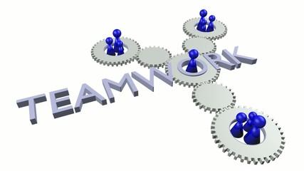 Teamwork Video (Blau und Weiss, Perspektive 1)