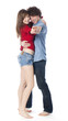 jeune couple dansant le tango