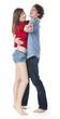 couple de jeunes gens dansant la valse