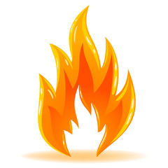 Vector symbol fire shiny flame