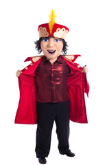 King mascot costume undress isolated