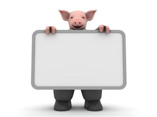 friendly pig - textfield