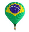 hot air balloon brazil flag