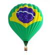 hot air balloon brazil flag
