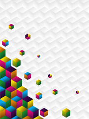 Multicolor cubes background