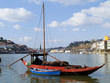 boat with wine barrels, Porto, Portugal