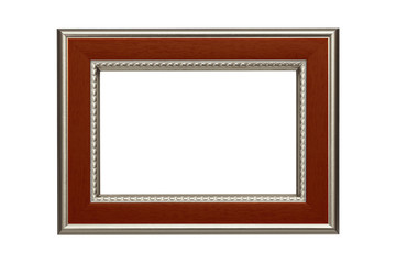 Silver-brown frame isolated on white background