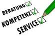 Beratung - Kompetenz - Service