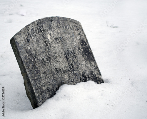 Snowy Grave During Winter.