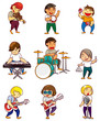 cartoon rock band icon - 29787801