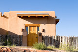 Fototapety Adobe Single Home Suburban Santa Fe New Mexico USA