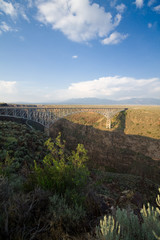 Rio Grande Gorge Bridge Taos New Mexico USA