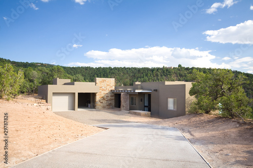 Adobe Single Family Home Suburban Santa Fe NM