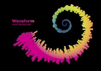 Colorful spiral waveform