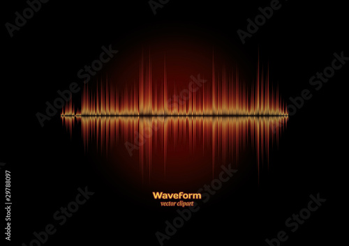 Waveform of fire