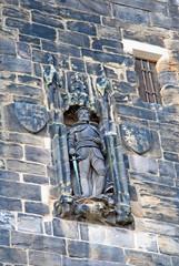 John of Gaunt statue on the Lancaster castle gates