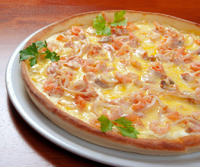 Fast food seafoods Pizza