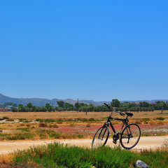 Bike on the road (Kos island, Greece)