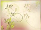 abstract pastel background with stylized vegetable pattern