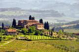 Fototapety Toskana Weingut - Tuscany vineyard 03
