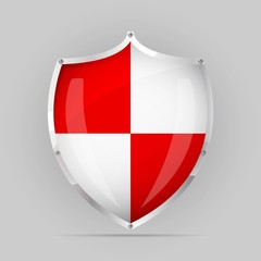 Red an White Shield