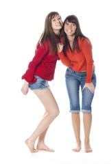 portrait de deux meilleures amies soeurs