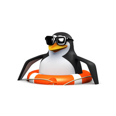 I'm still floating says 3d penguin