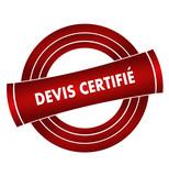 devis certifié sur vignette rouge poster