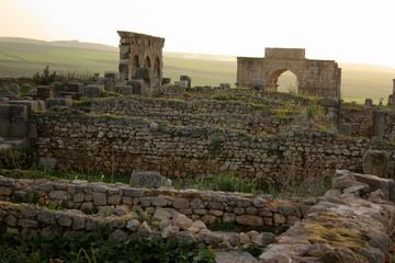 Le rovine di Volubilis - Moulay Idriss - Marocco