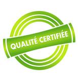 qualité certifiée sur vignette verte poster