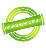 engagement certifié sur vignette verte poster