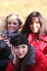 tre ragazze al parco