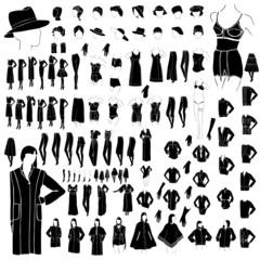 woman clothes collection vector